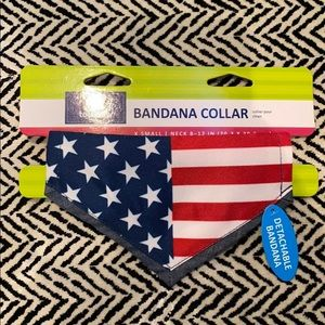 NWT Top Paw Patriotic Pet Bandana sz XS